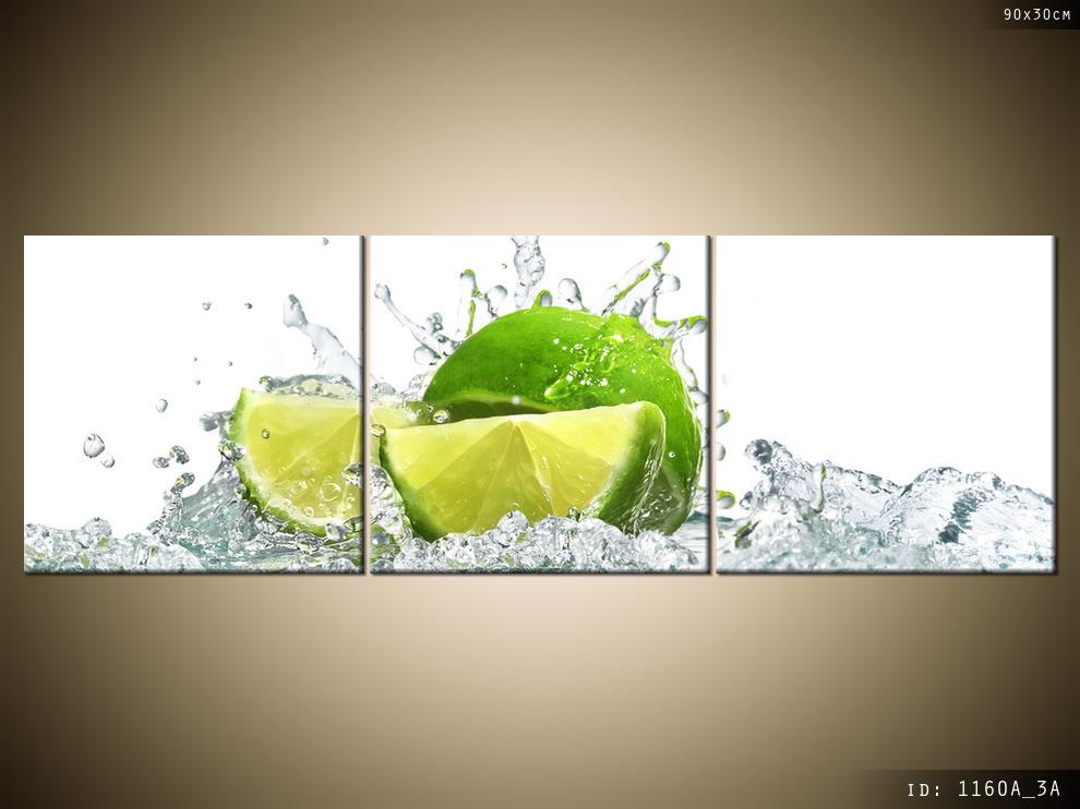 Obraz Do Kuchni Tryptyk Limonka