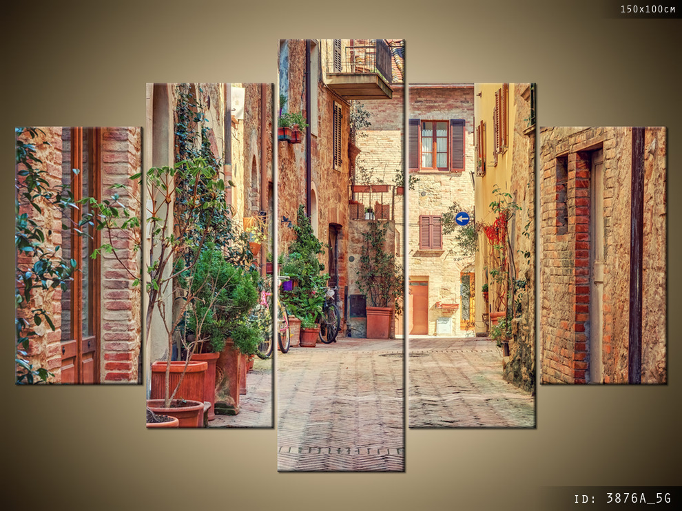 Obraz 5 Częściowy Do Salonu Stara Alejka W Toskanii