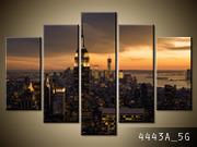 Obraz 5 Częściowy 150x100 Miasto Nowy Jork O świcie